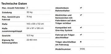 Thule ClipOn High 9106 Fahrradträger für die Heckklappe -