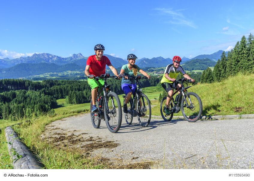 Radtour Berge