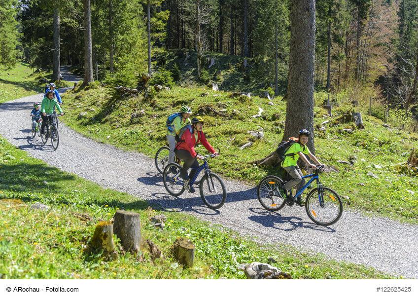Radtour Wald